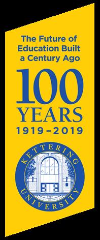 100 Years Kettering Anniversary Banner
